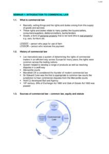 Introduction to Property and Commercial Law (70327) notes