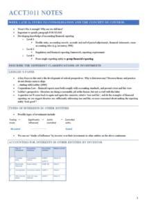 Financial Accounting B (ACCT3011) full notes