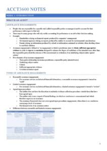 Accounting and Auditing in Practice (ACCT3600) full notes