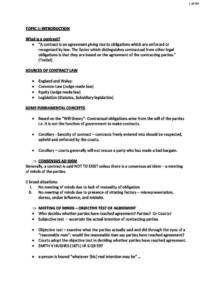 Contract Law (LLB) comprehensive notes