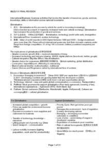 International Business Strategy (IBUS2101) final exam notes