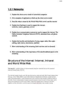 Networks (2.1) CIE A Level 9618 Computer Science exam notes