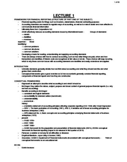 Financial Statement Analysis (22319) lecture notes