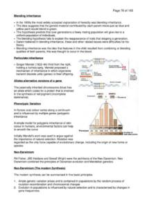 Life! Origins and Mechanisms (BIOSCI 101) complete lecture notes