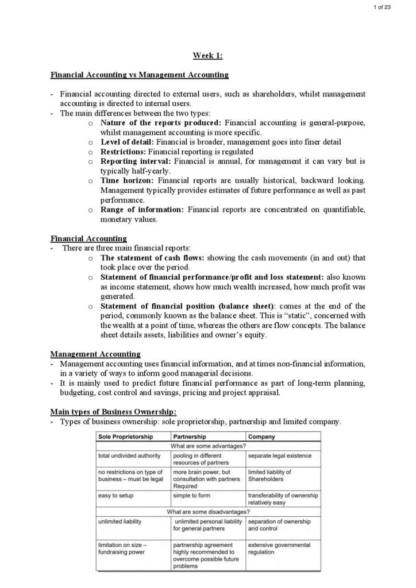Accounting, Business and Society (BUSS1030) HD notes