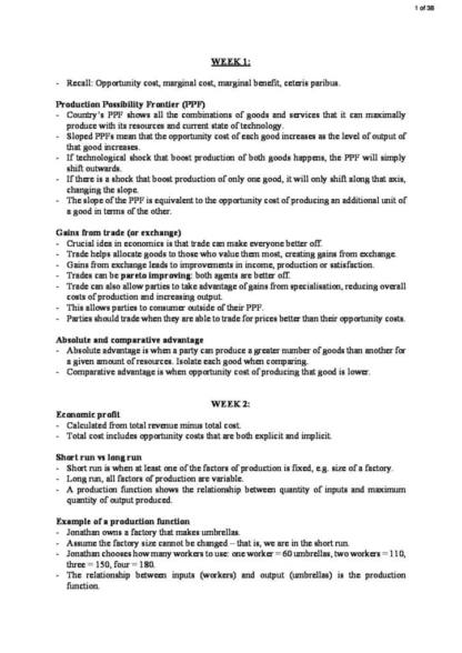 Economics for Business Decision Making (BUSS1040) HD notes