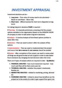 Financial Management (FM) exam notes