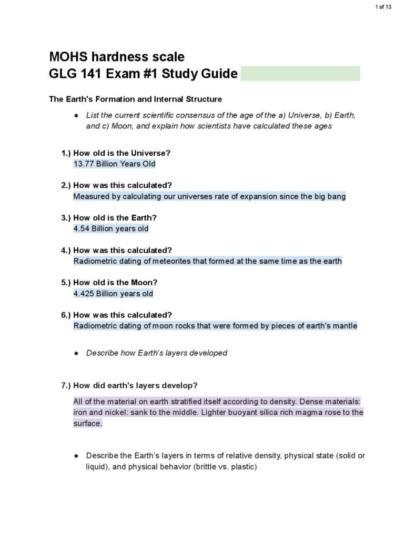 Geology of U.S. National Parks (GLG 141) exam 1 notes