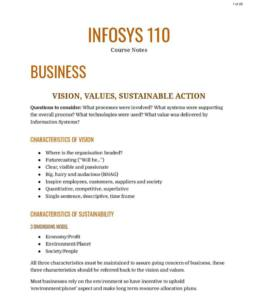 Digital Systems (INFOSYS 110) course notes