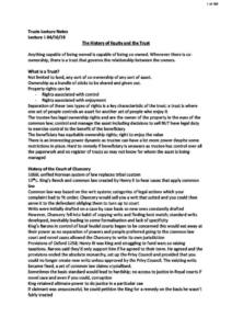 Law of Trusts (LA307) complete notes