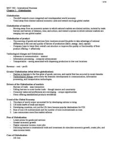 Principles of International Business (MGT 302) notes