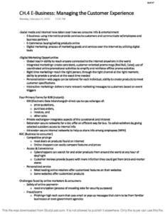 Marketing Management (MKT 301) summary notes