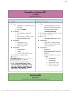 Orthopaedic BCh (UCD) notes