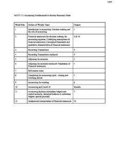 Accounting Fundamentals In Society (ACCY111) lecture notes