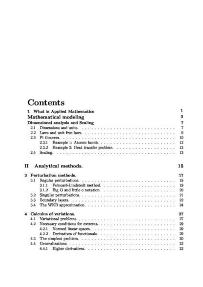 Applied Mathematics (1MA148) summary notes