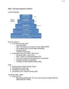 European Union Law (LAW2230) notes
