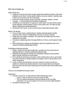 Family Law (LAW2330) notes