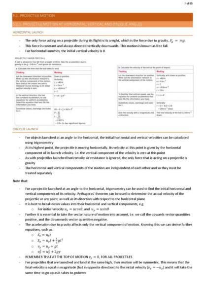 HSC Physics Year 12 complete module notes