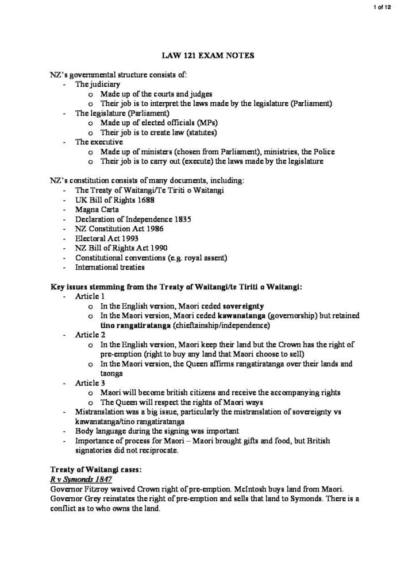 Law and Society (LAW 121G) exam notes