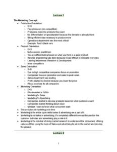 Marketing Research (MKTG 3201) lecture notes