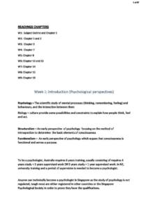 Exploring Psychology: from Brain to Practice (PY1101) full summary HD notes